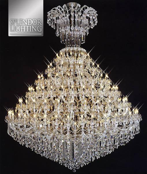 108-Light Super Size Gold Plated Entrance Chandelier