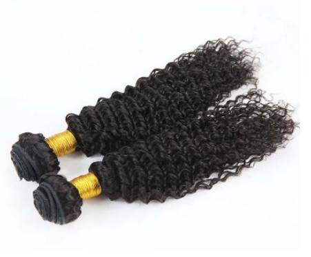 [8A]2 Bundles Brazilian Kinky Curly Hair Weave with 360 frontal