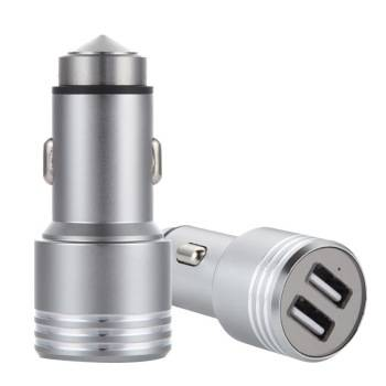 9V/2A Quick Charge Portable Dual USB Car Charger Car Safety Hammer