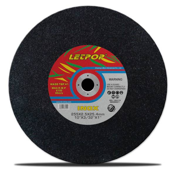 T41 10''Abrasive Cutting Wheels for Stainless Steel 255*2.5*25.4mm with MPA, EN12413