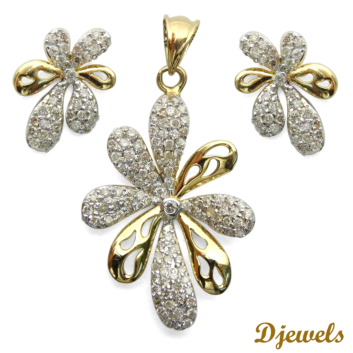 Diamond Pendant Set Jillian Leaf