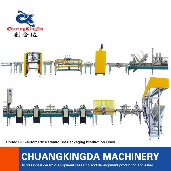 ckd united-full automatic ceramic tile packaging production line
