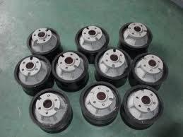 Concrete pump piston ram