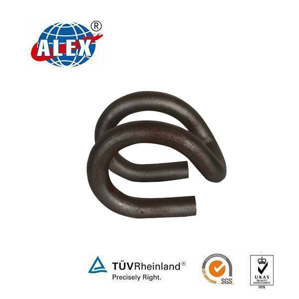 Black Finished Rail Clip For Railway Fastening System