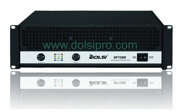 Double Channel Professional Power Amplifier with Metal Seal Flow Output 3U GF Series