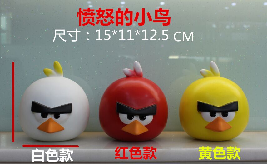 Customized action figure toys angry birds