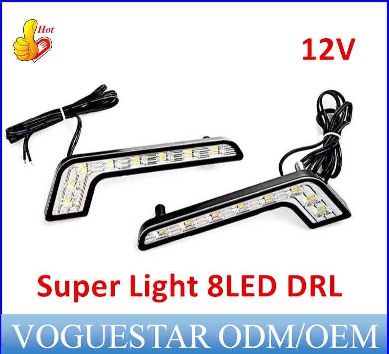daytime running light kit consists of a pair of super bright LED lights