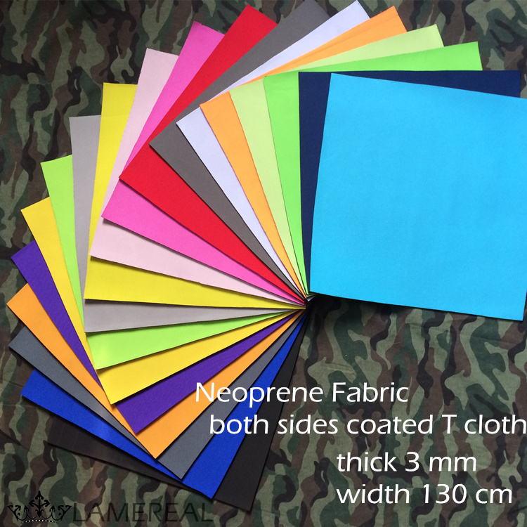 neoprene fabric 3mm coated polyester knitted fabric various color thickness 3mm