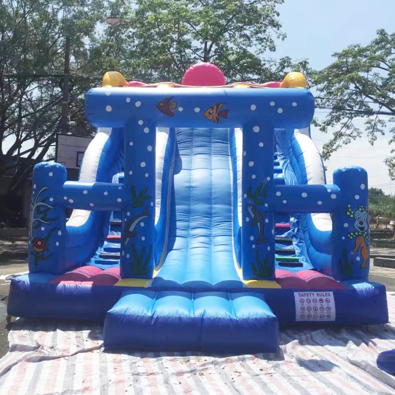 2017 hot sale underwater fun inflatable vivid colorful slide