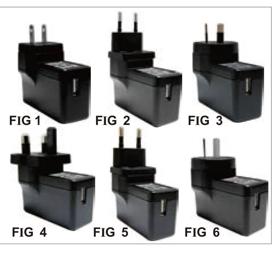 AGA012I-USB  12W Interchangeable plug USB Charger