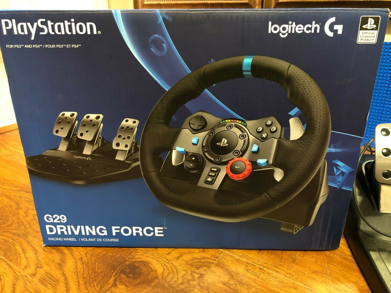 Logitech Dual-Motor Feedback Driving Force G29 Gaming Racing Wheel PS4 PC Pedals +14704086638