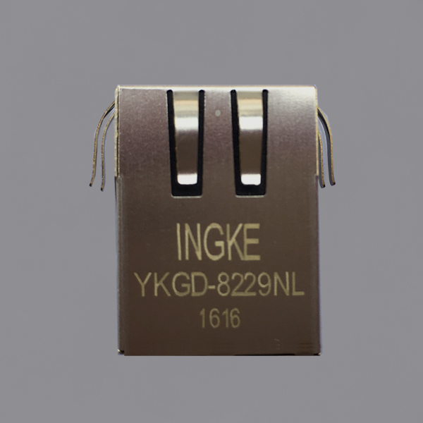 Ingke YKGD-8229NL 100% cross Halo HFJ11-1G02E RJ45 Jacks With Magnetics