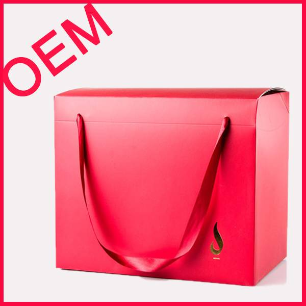 custom printed paper bag box with handle(BLF-PB022)