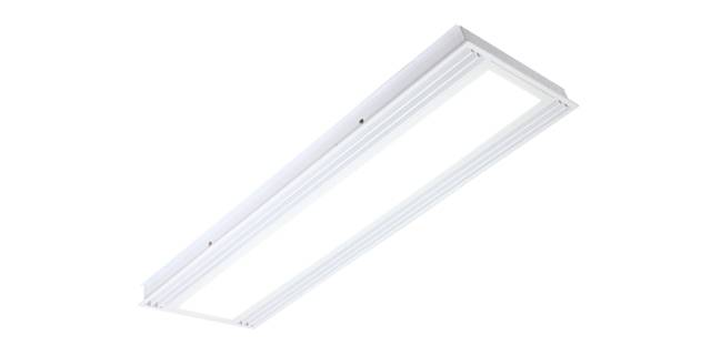 LED panel light with air slot light fixture