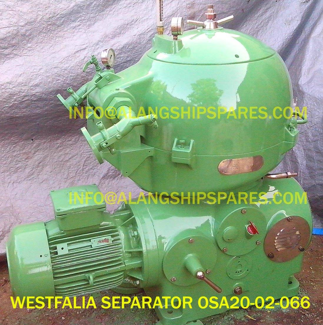 Westfalia separator OSA20, OSA35, OSA7, OSB35,