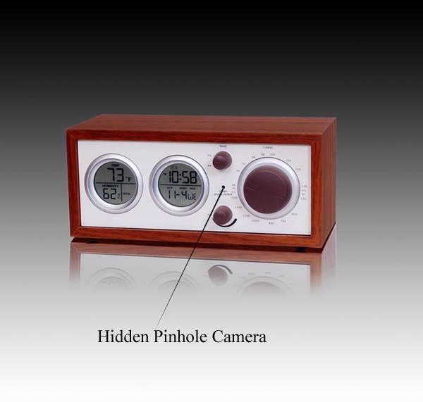 Clock Radio With Hidden Pinhole Color Camera Set