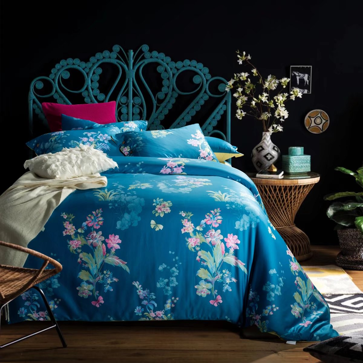 Premium 100% cotton French floral bed linen- CRMMS0030