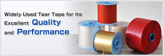 High performance adhesive easy open tear tape