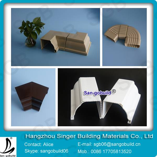 PVC Pipes brand and PVC rain gutter For drainage system