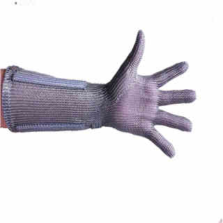 Metal Mesh Butcher Glove with Cuff