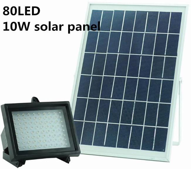 Solar powered 80LEDs Solar Panel for Lawn Garden Outdoor Security Spotlight waterproof Solar Street