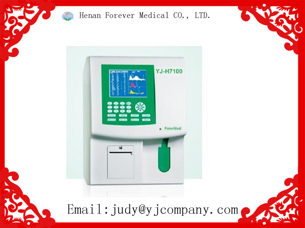YJ-H7100 3 Part diff HEMATOLOGY ANALYZER Cell Blood Counter