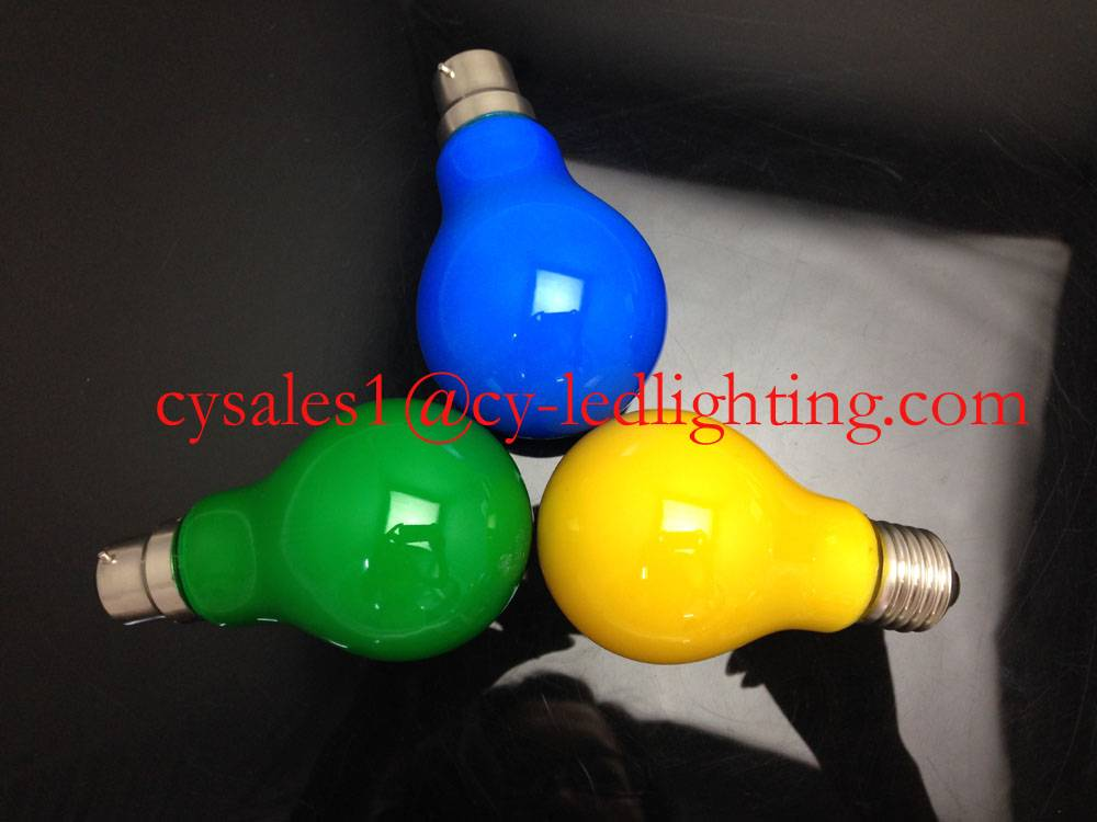 RGB filament led opaque yeallow blue green red cover bulb