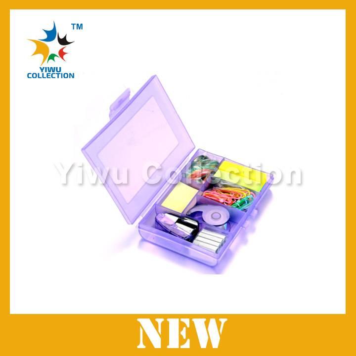plastic school stationery set