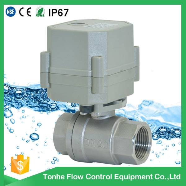 Tonhe OEM 2 way 3/4'' DN20 AC230V NSF61, stainless steel ball valve