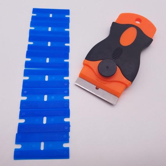 Wolesale Orange Plastic Razor Scraper Blades Double Edged Plastic Razor Blades Squeegee