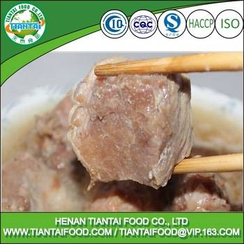 free samples of canned stewed pork meat