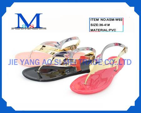 Ladies PVC fashion slippers for 2014