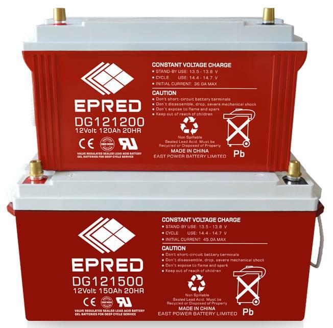 DG series 12V GEL battery deep cycle battery