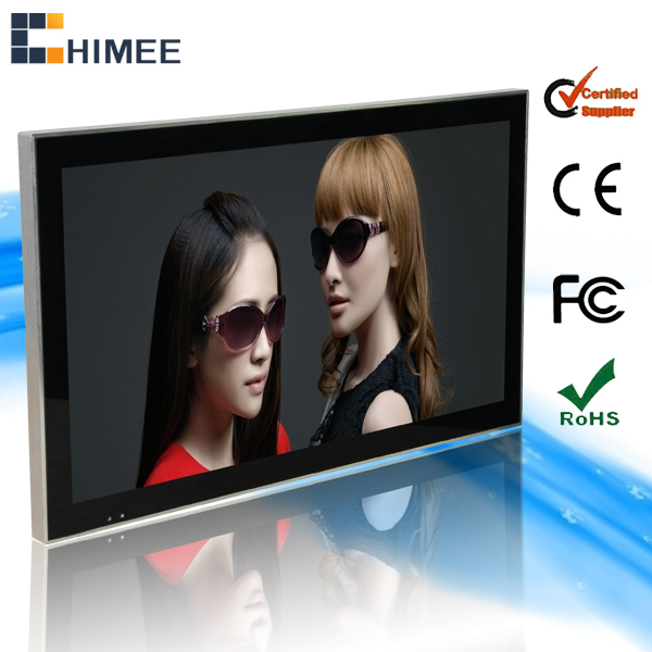 HQ26EW-1 Wall mounted LED display China video photobooth advertising displayer for shops stores