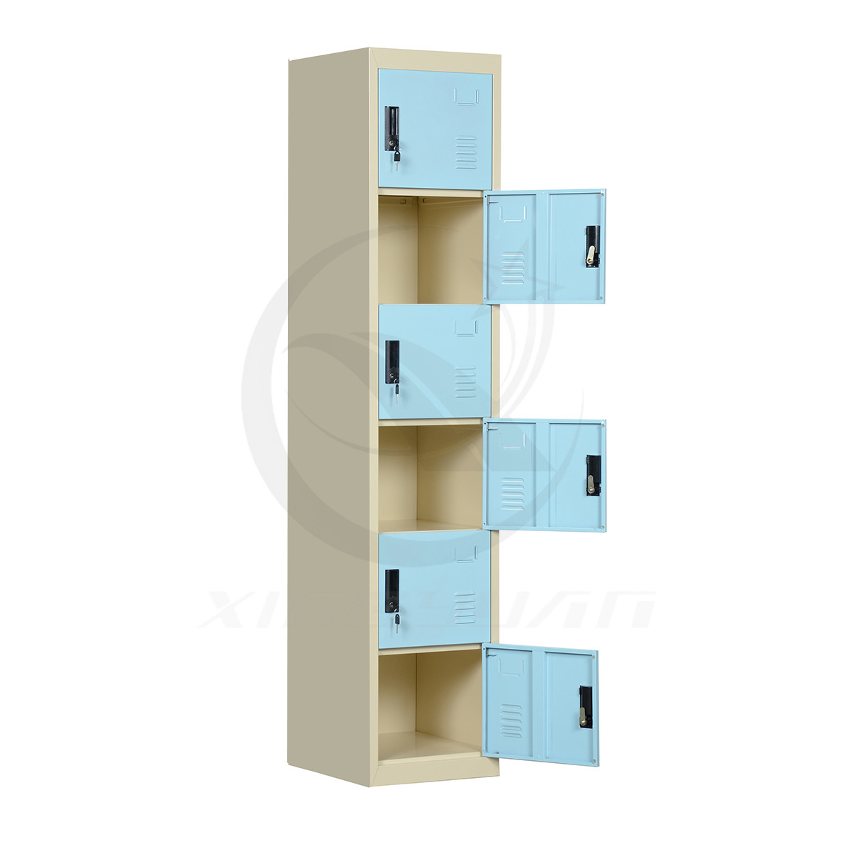 Xingyuan Practical Lockable 6 Door Closet Cabinet Steel Locker