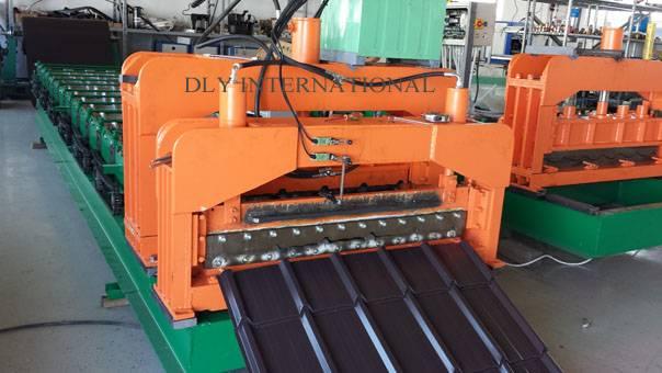 corrugated steel roof tile making machine