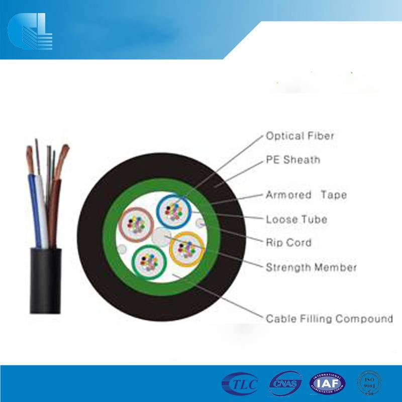 Hybrid Fiber Optic Cable with Steel Tape