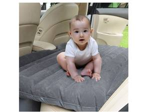 Inflatable flocked travel car air mattress bed