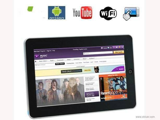 10.2 Inch touch screen Google Android 2.1 OS tablet pc