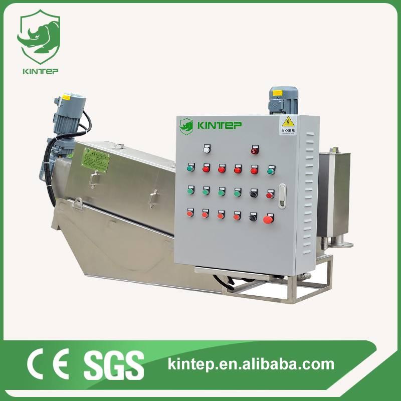 Volute sludge dewatering screw press