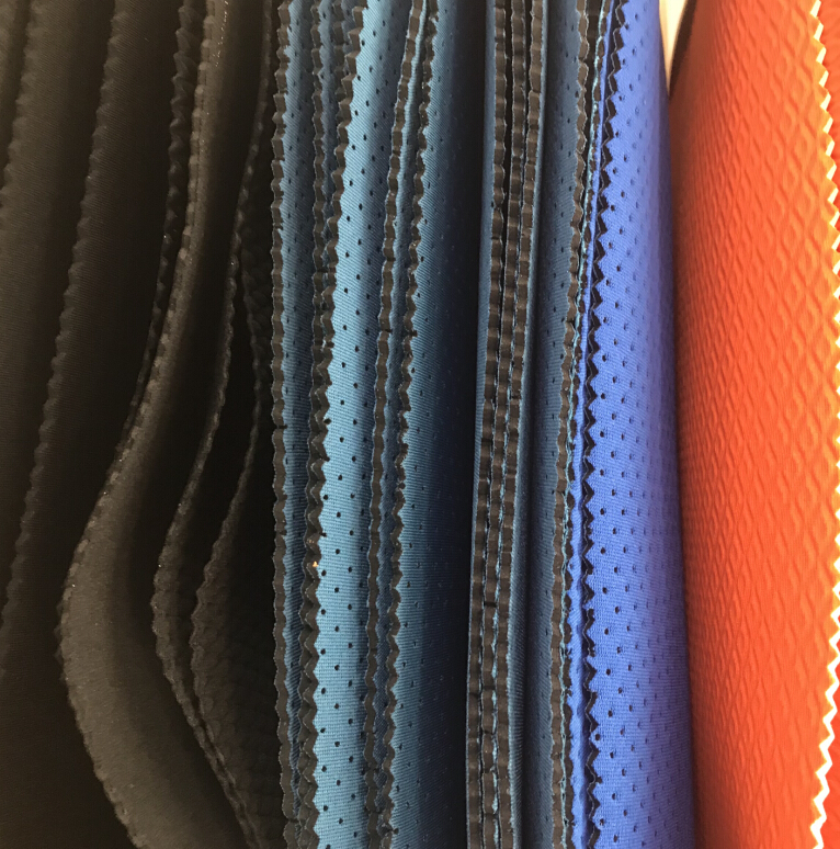 perforated neoprene sheet breathable for knee pads or other sports support products