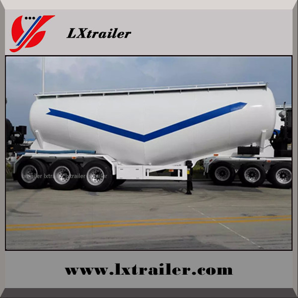 China cheap cement transport semi truck trailer bulk powder tanker trailer