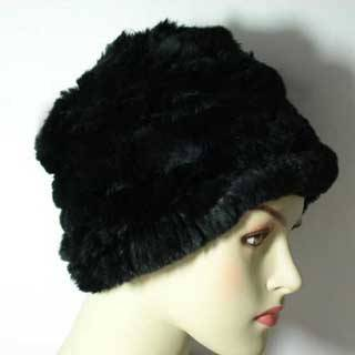 Rabbit Fur Cap Knitted