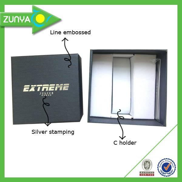 Customize elegant cardboard paper watch box