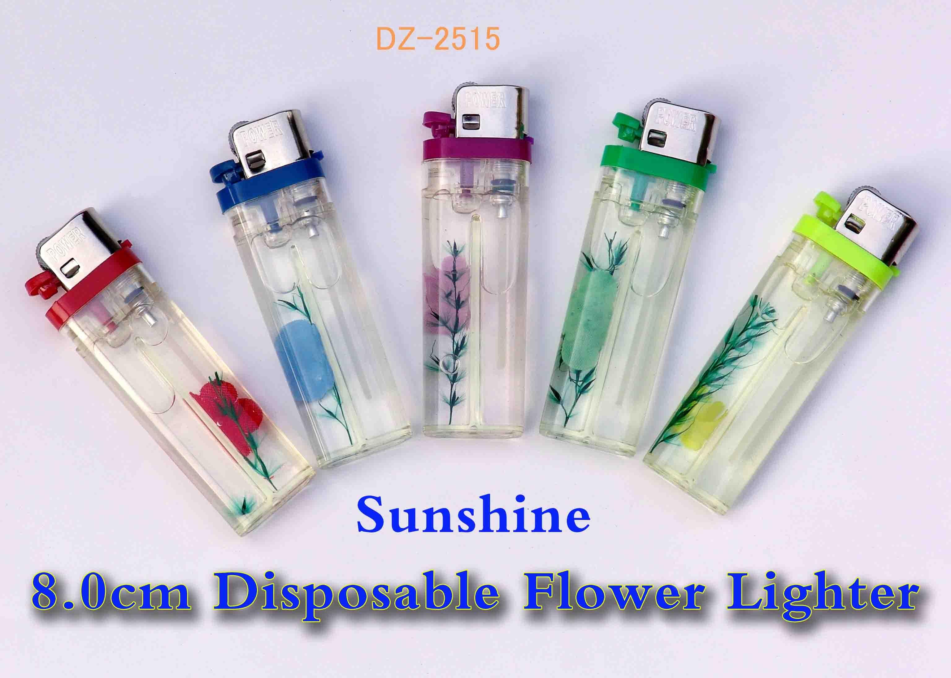 Flower disposable gas lighter