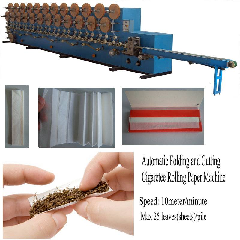 High speed automatic tobacco rolling your own cigarette paper making machine