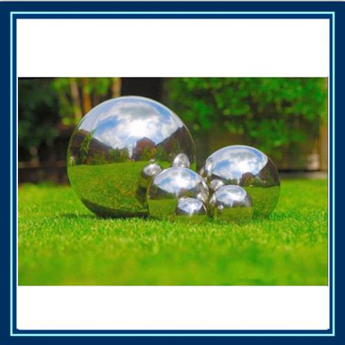 mirror finished stainless steel ball for garden decoration