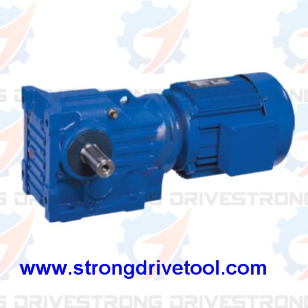 high torque helical bevel geared motor for pellet machine