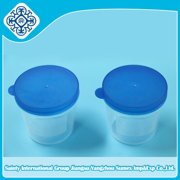 Disposable urine container hand lift cover 40ml 60ml