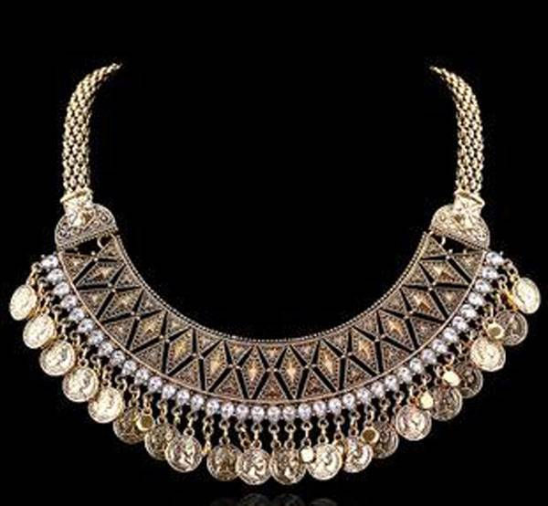 New design fashion jewelry exagerate diamond inlay necklace
